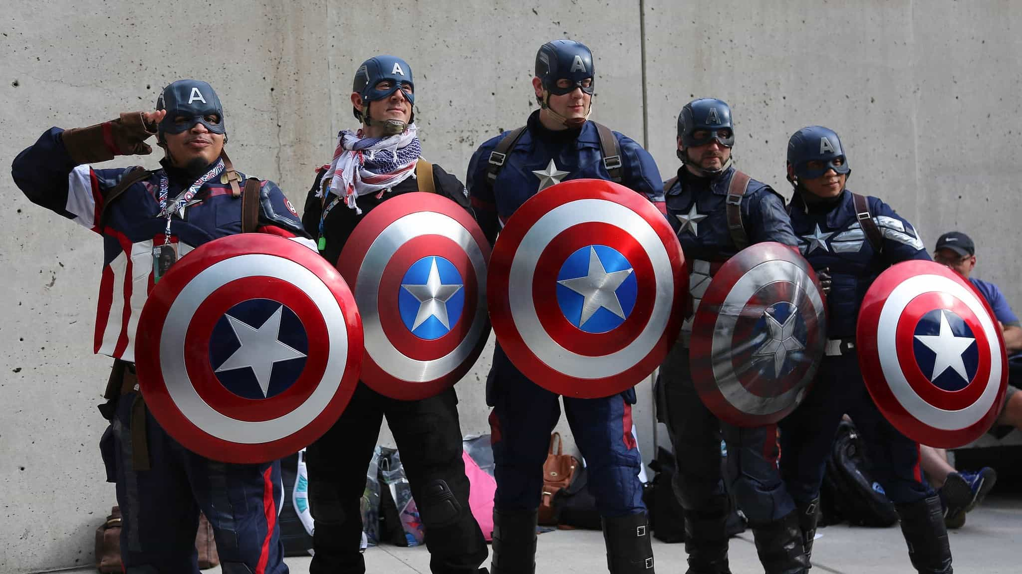 Captain America Uses a Shield