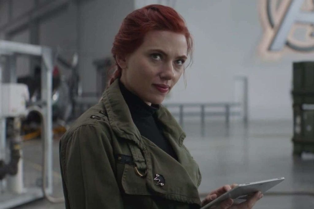 Johansson as Black Widow in Endgame