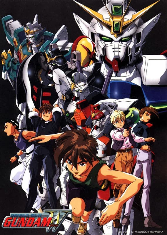 A poster for 'Gundam Wing'.