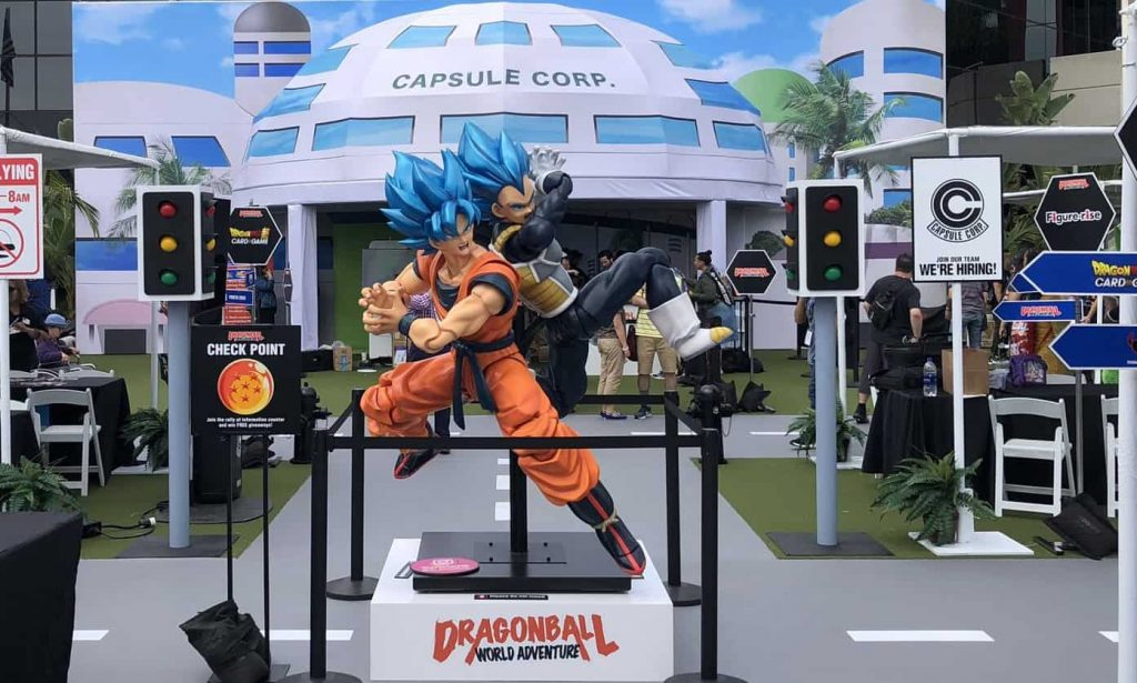 An image of Dragon Ball World Tour set up at SDCC 2019