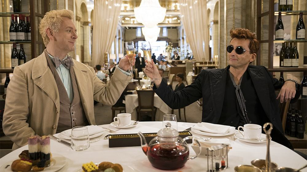 BFFs Crowley and Aziraphale