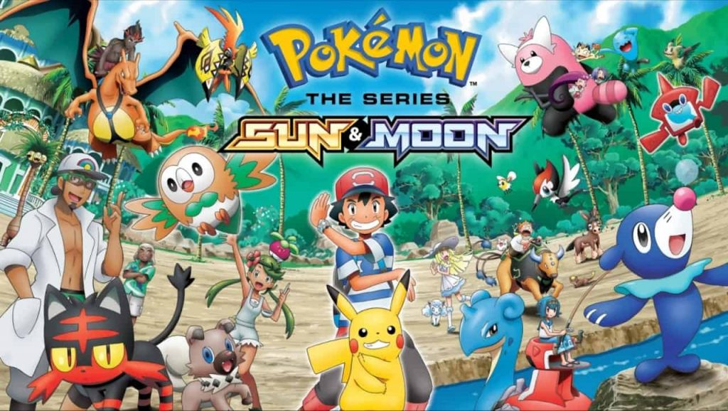 Poster for 'Pokemon: Sun And Moon'.