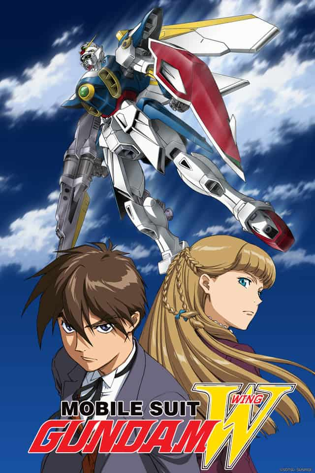 Poster for 'Mobile Suit Gundam Wing'.