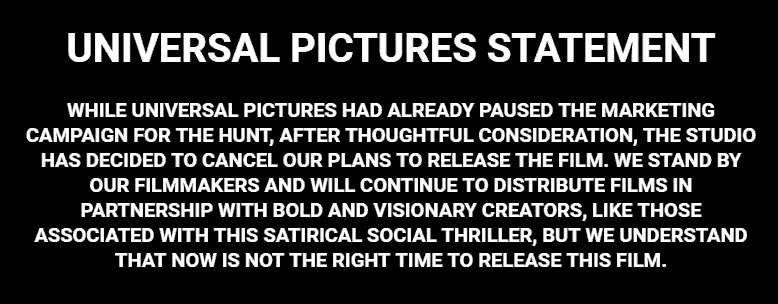 Universal Pictures Statement