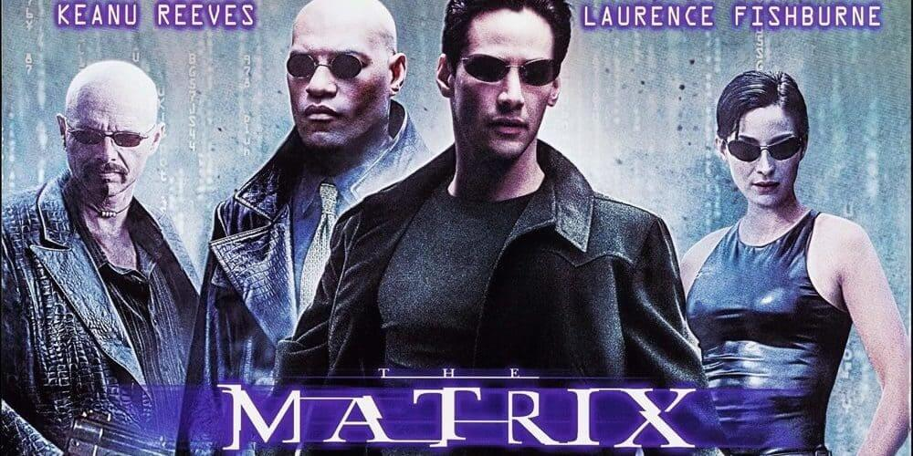 A poster of 'The Matrix'.