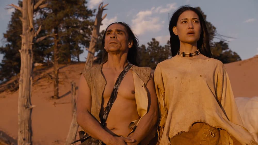 Akecheta and Kohana in Westworld