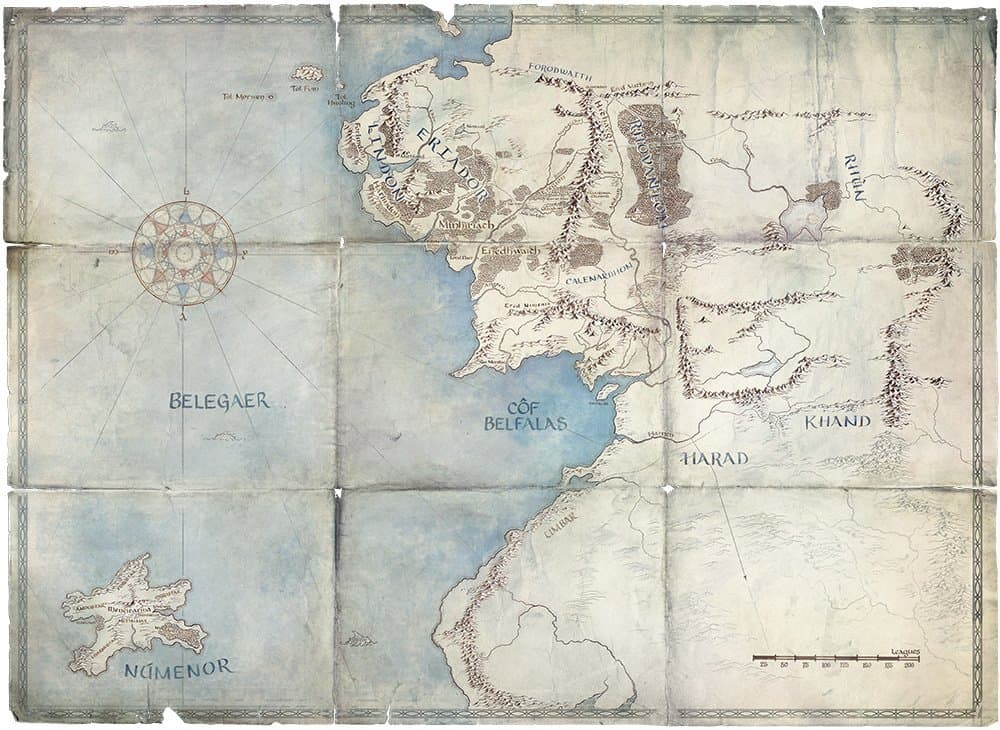 Lord of the Rings Map, Streaming Service Subscriptions Draw