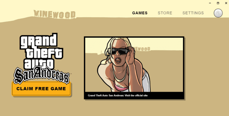 Rockstar Games Launcher Free Game Screen