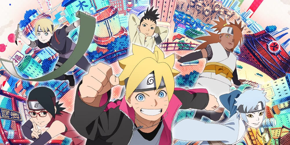 A poster for Boruto: Naruto Next Generations.