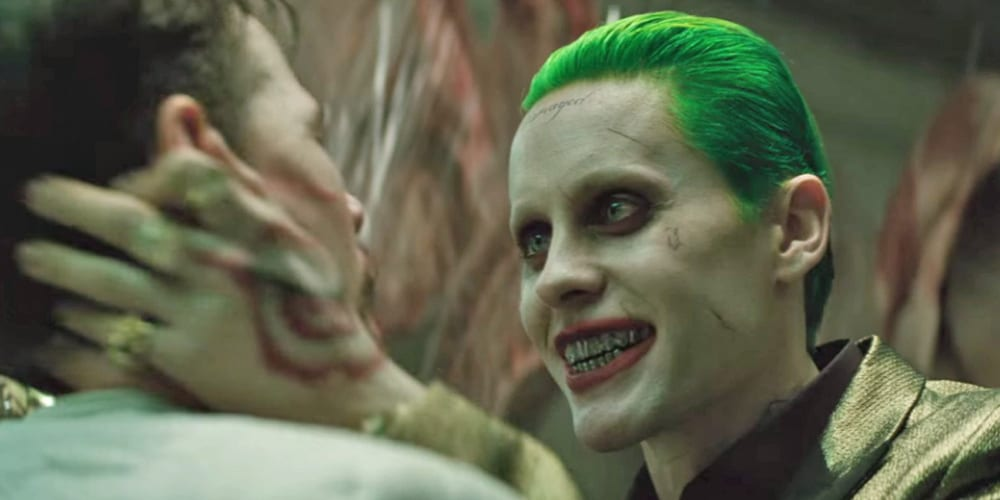 Jared Leto as Joker in a still from 'Sucide Squad'.