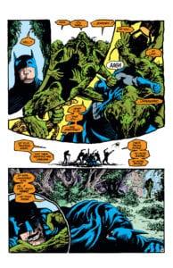 Batman fighting Swamp Thing Alan Moore Saga of the Swamp Thing
