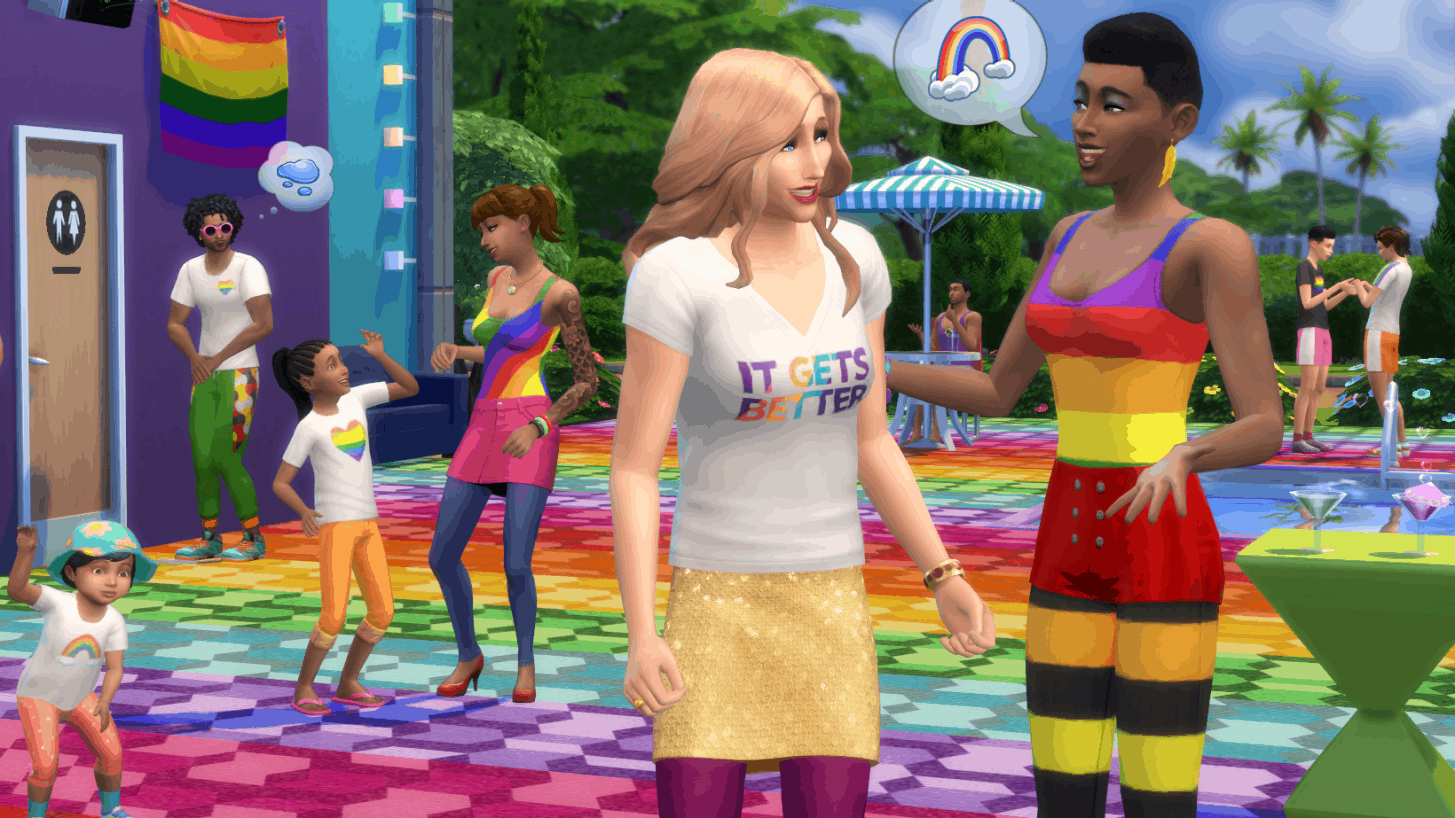 sims 4 player count high pride month