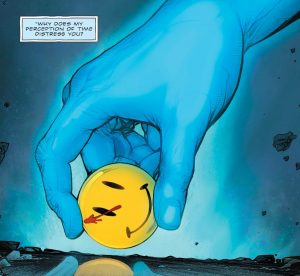 DC Rebirth, Batman Flash The Button, Flash, Batman, Dr. Manhattan, Watchmen, The Comedian