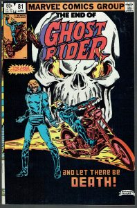End of Ghost Rider Marvel