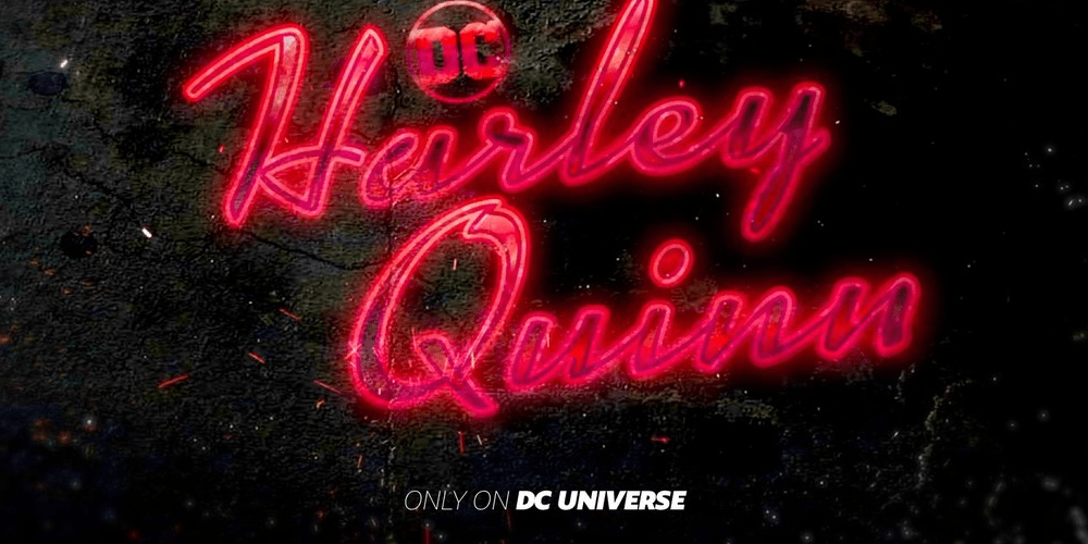 The poster of Harley Quinn animated series at DC Universe.