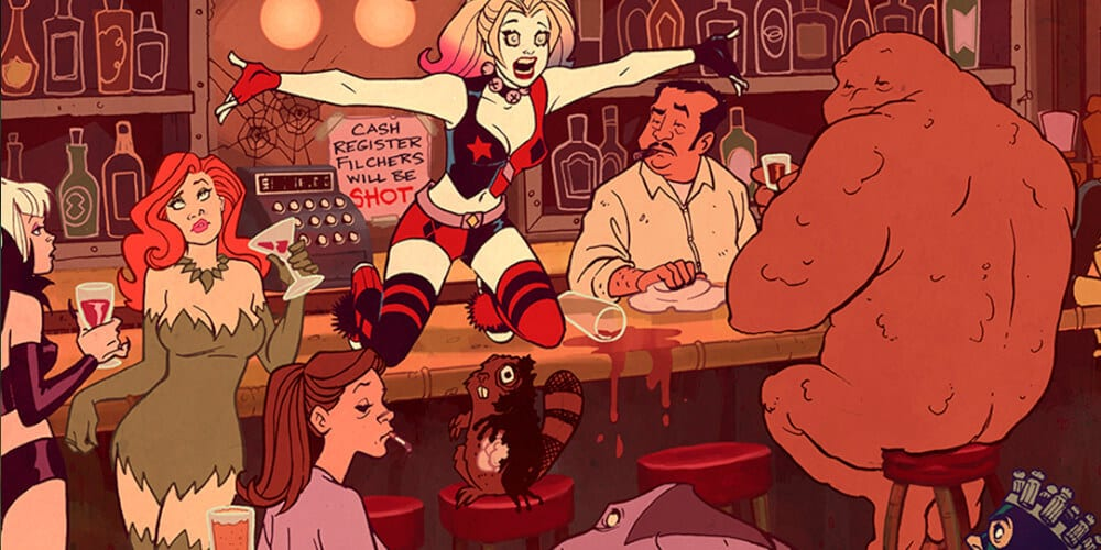 A Scene from Harley Quinn animated series at DC Universe.