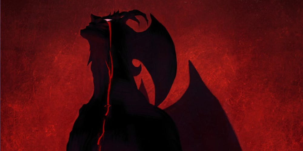 A poster for Netflix anime Devilman: Crybaby