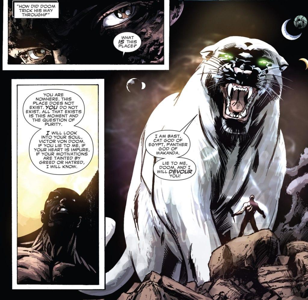 Bast, Black Panther, Doctor Doom, Doomwar