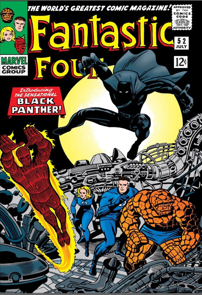 Black Panther, Fantastic Four, Jack Kirby, Stan Lee, Fantastic Four #52