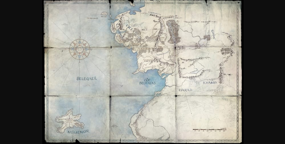 Lord of the Rings Prequel Series Renewed Amazon Season 2 Map