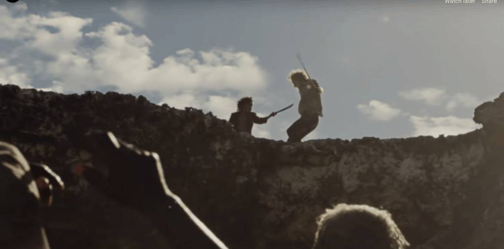A Sword Fight In The Zeitlin Movie Wendy