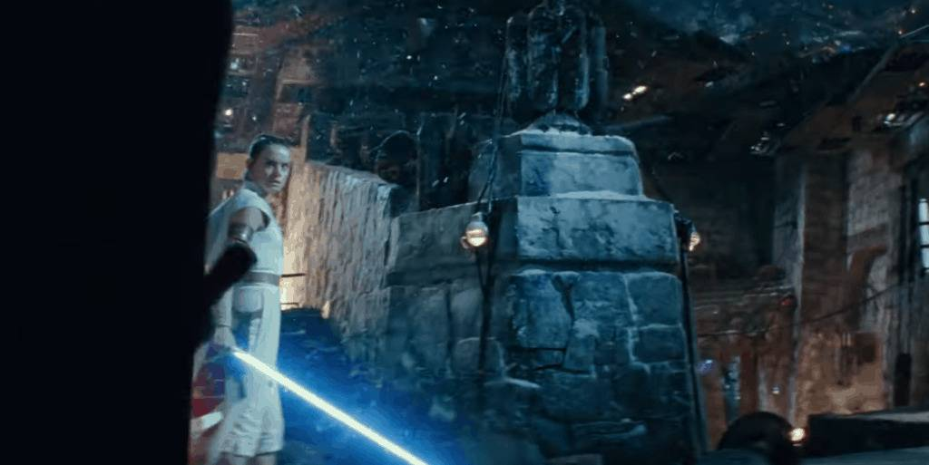 Star Wars Rise of Skywalker First TV Spot NEw Footage Rey Faceoff