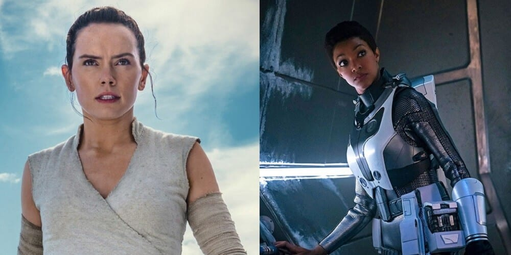 Star Wars Star Trek Rivalry Rey and Michael Burnham Suck it Sexists