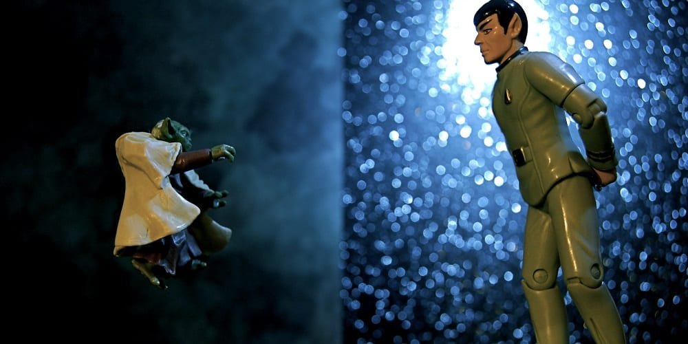 Star Wars Star Trek Rivalry Yoda Spock
