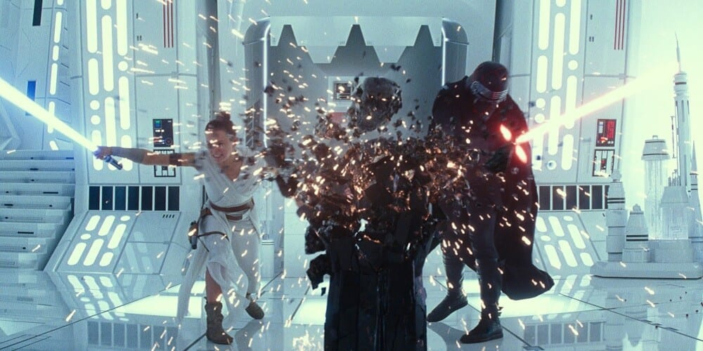 Star Wars The Rise of Skywalker Box Office Projection Rey and Kylo Smash Vader's Mask