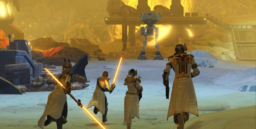 Star Wars the Old Republic Onslaught Group Run at Walker