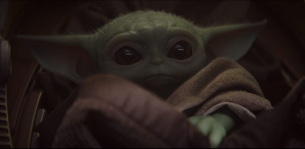 The Mandalorian Series Premiere Big Reveal of a Baby Yoda Creature