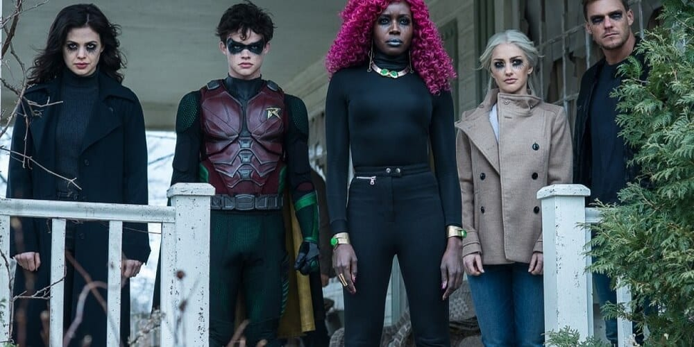 Titans Renewed for Season 3 DC Universe Goth Titans Starfire Hawk Dove Robin Wonder Girl