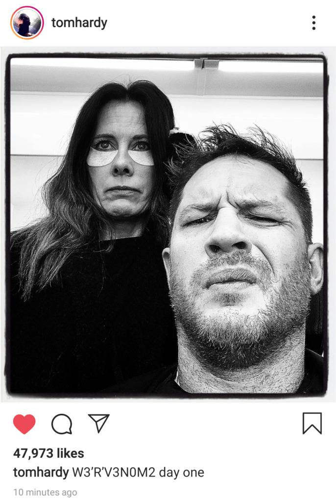 Venom 2 started filming deleted post