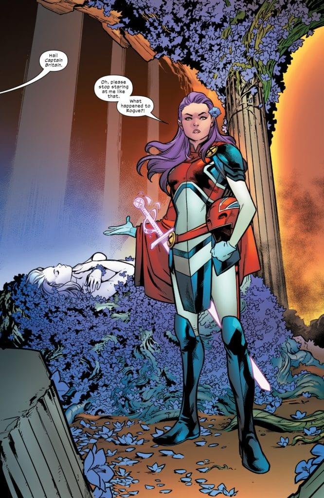 Captain Britain, Psylocke, X-Men, Excalibur, Dawn of X, Rogue Tini Howard Excalibur #1