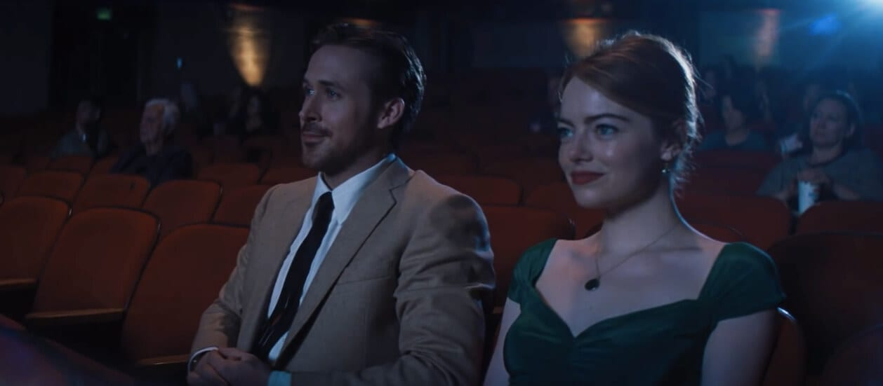 La La Land Watches Movies at the Theatre