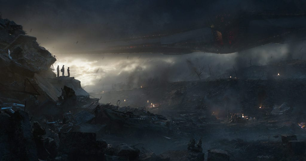 Avengers: Endgame Cinematic Shot Watching Movies in a theatre