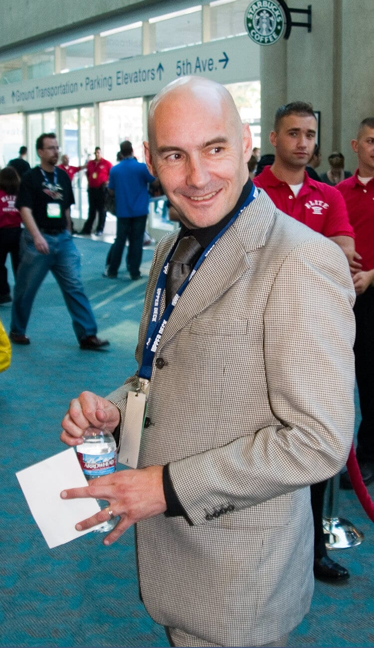 Comic book writer Grant Morrison