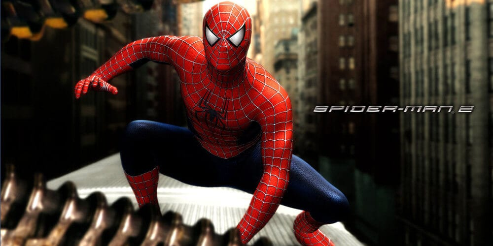 Tobey Maguire as the first commercial Spider-Man
