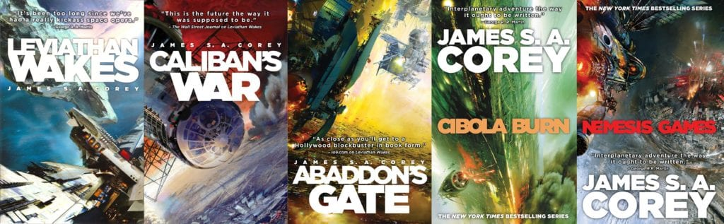 The Expanse Novels by James S.A. Corey