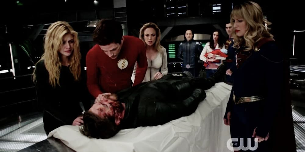 Crisis On Infinite Earths Hour 1 Death of Oliver Queen
