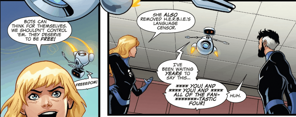 Fantastic Four, Reed Richards, Mr. Fantastic, Sue Storm, Invisible Woman, HERBIE