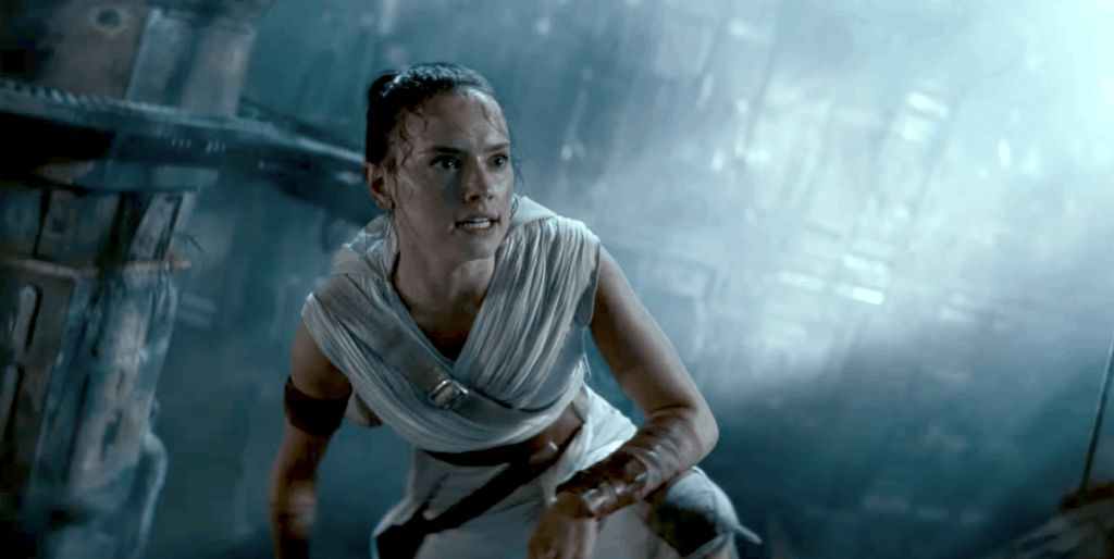 Star WArs Rise of Skywalker Movie Leaks Rey Jumping