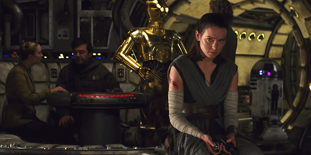 Star WArs The Last Jedi backlash Rey and the Resistance on the Falcon