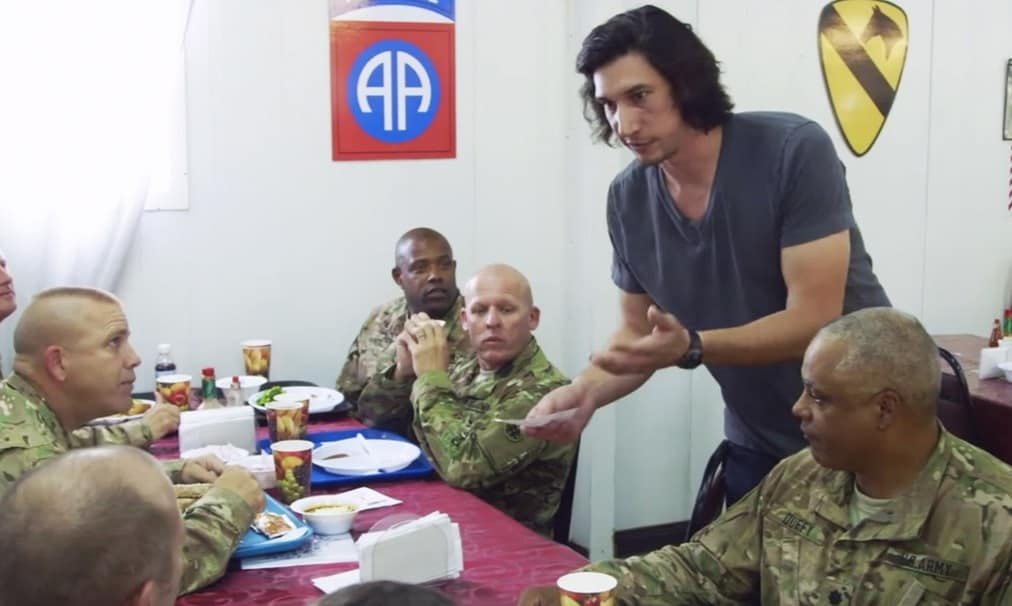 The Rise of Ben Solo Fundraiser Arts In the ARmed Forces Adam Driver Featured