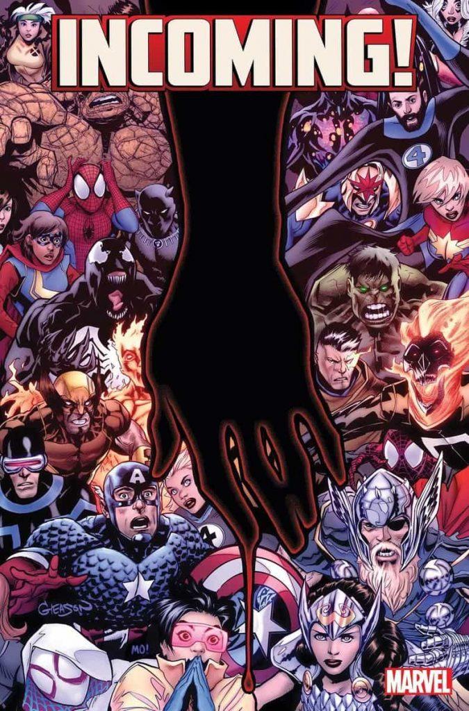 Incoming, Marvel Comics, Empyre, Watcher, Nick Fury, Captain America, X-Men, Masked Raider