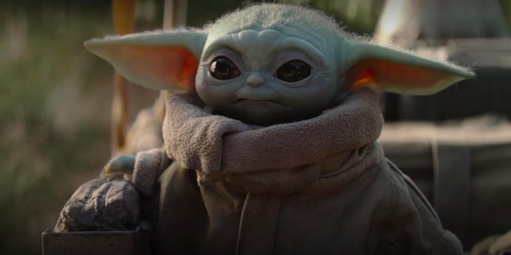 The adorable Baby Yoda
