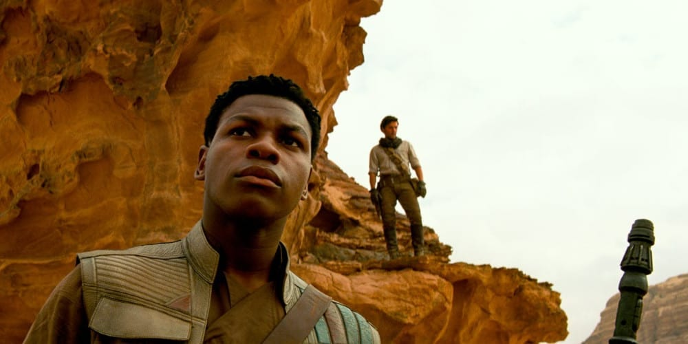 Finn and Poe in The Rise Of Skywalker