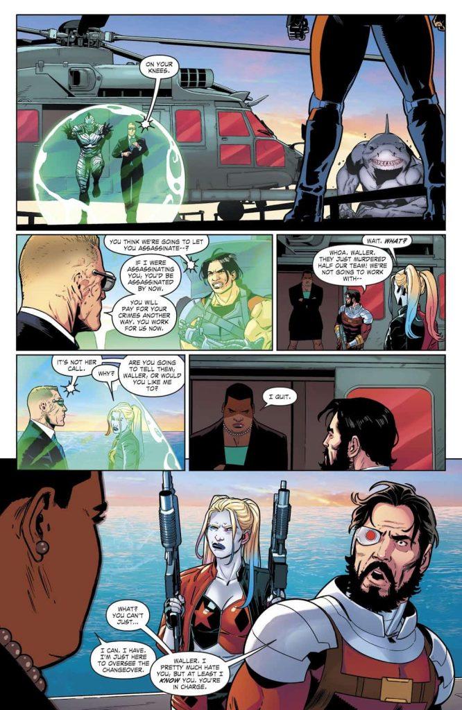 Lok, Deadshot, Suicide Squad #1, DC Comics, Harley Quinn, Amanda Waller, King Shark