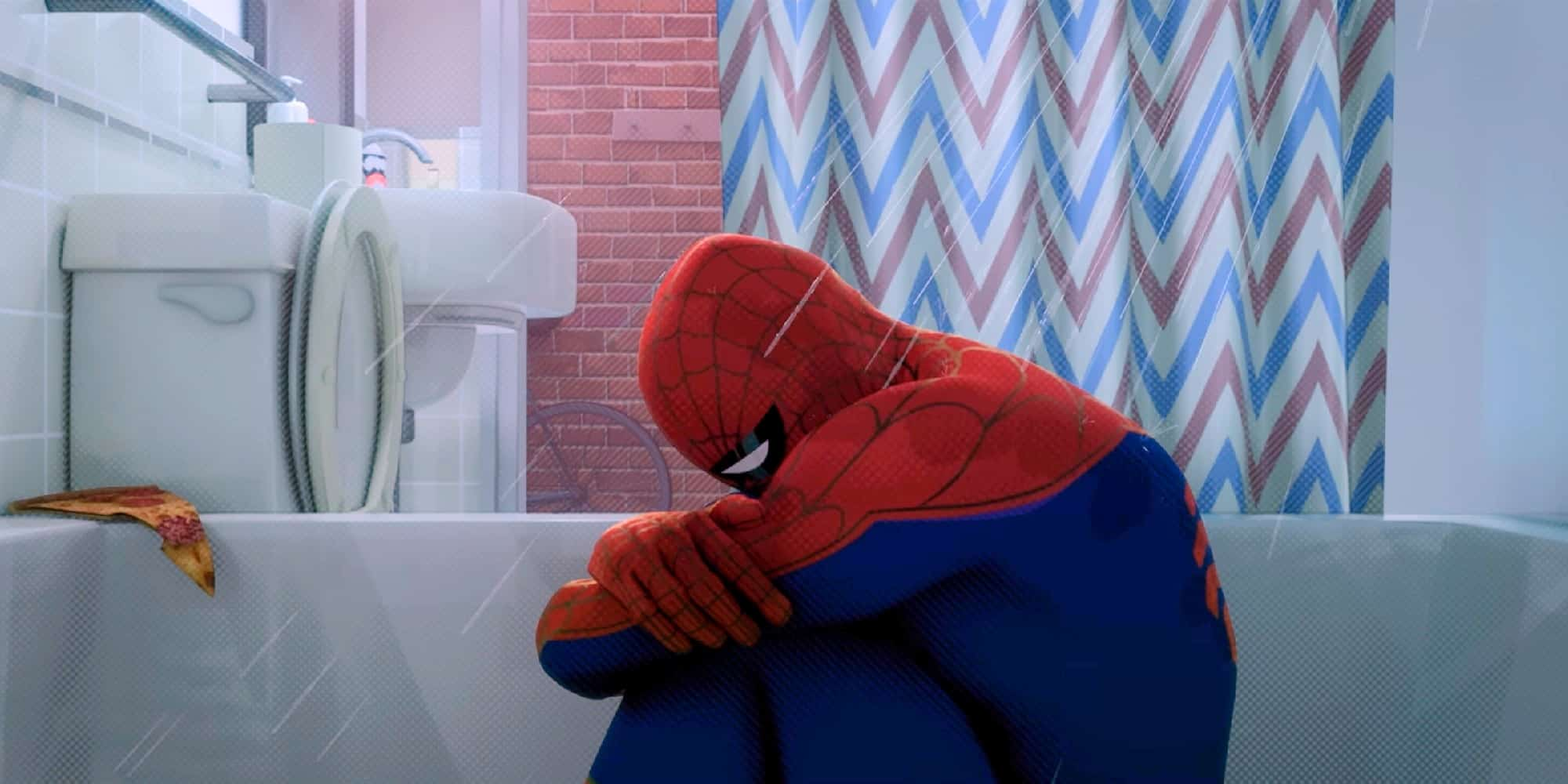 Blue Monday Superheroes Depression Spider-Man Into the Spider-Verse Peter B. Parker Featured