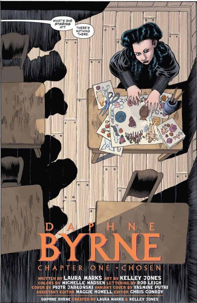 Daphne Byrne, Laura Marks, Hill House Comics, DC Comics, Joe Hill